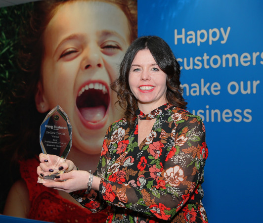 winning smiles as decare dental wins best professional service award at 2016 mayo business awards - Winning Smiles as DeCare Dental Wins Best Professional Service Award at 2016 Mayo Business Awards.