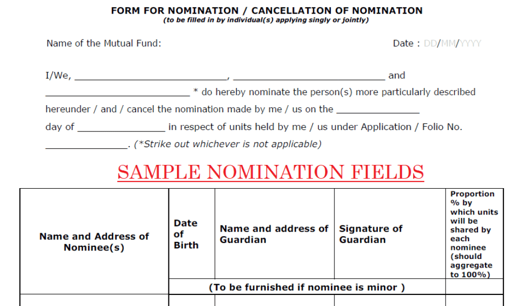 318 meaning of nomination in mf investments - Meaning of Nomination in MF Investments