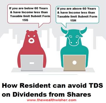 avoiding tds on dividends residents nris - Avoiding TDS on Dividends (Residents & NRIs)